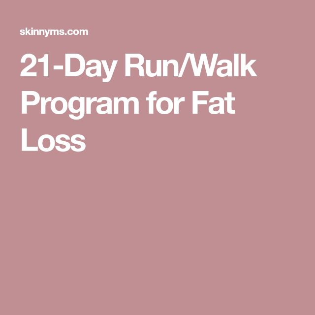 21-Day Run/Walk Program for Fat Loss
