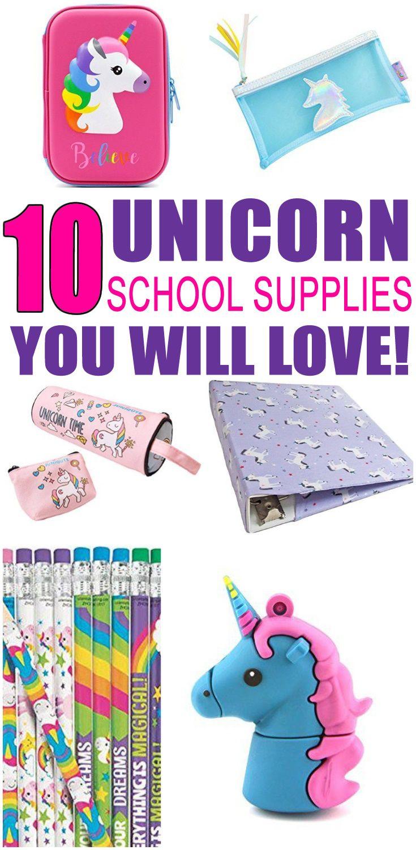 Unicorn School Supplies Back To School Pinterest School