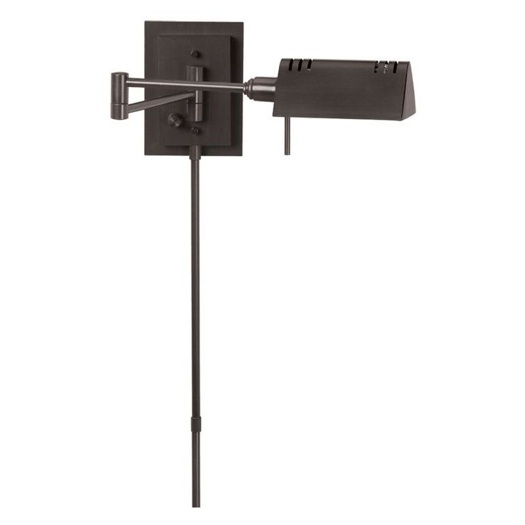Dainolite 1 Light Swing Arm PinUp Wall Sconce In Oil Brushed Bronze