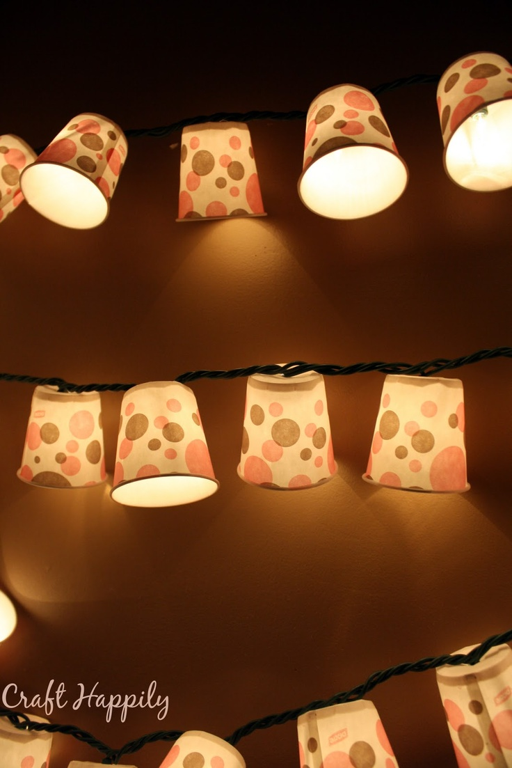 Craft Happily: DIY-Dixie Cup Light Garland