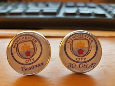 Manchester City Football Club cufflinks made to order