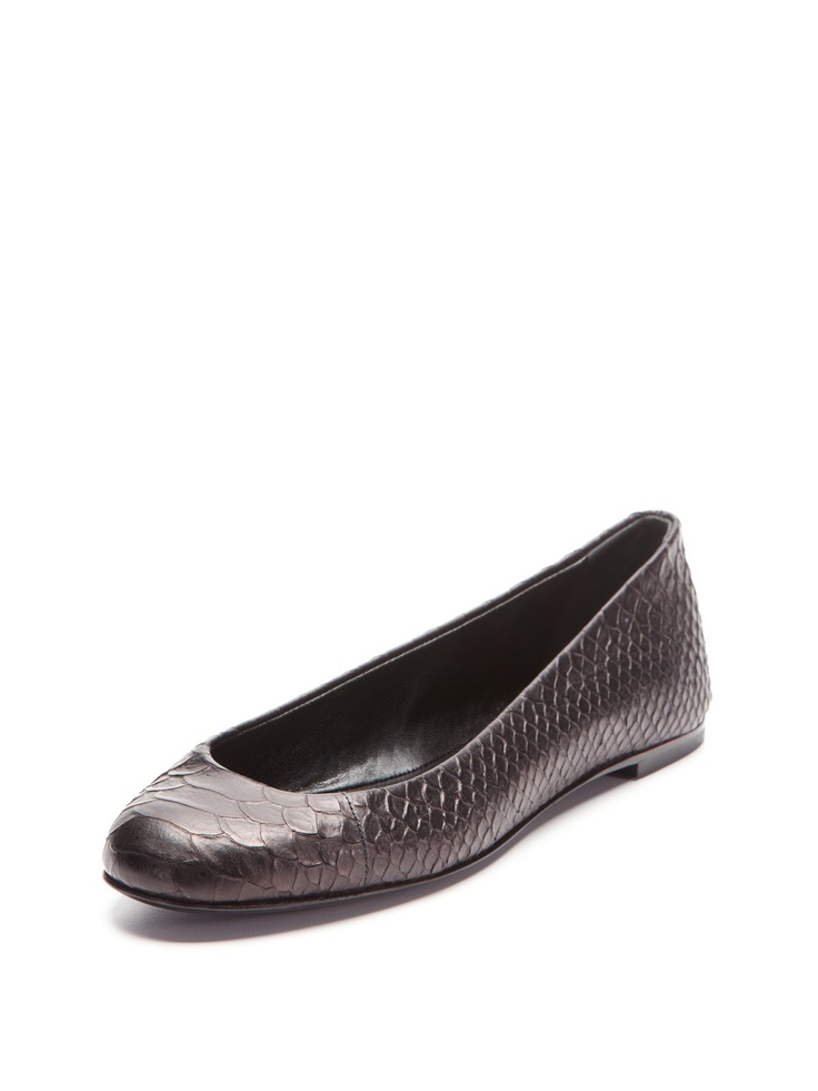 Giuseppe Zanotti Malika Ballet Flat Ballet flat Python embossed leather  upper Leather insole and sole heel Material: Leather Brand: Giuseppe  Zanotti Origin: ...