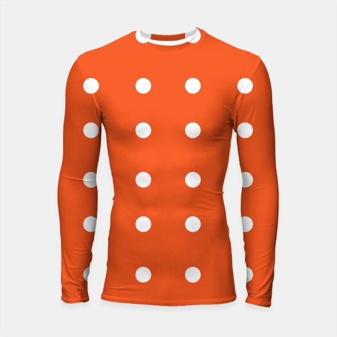 Longsleeve Rashguard Orange with white Dots
