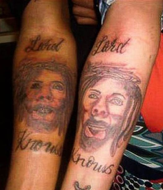 Bad Jesus Lard Knows Religious Tattoos  Worst Tattoos Bad Tattoos Stupid People Funny Nasty Awful Horrible Terrible WTF Epic Fails