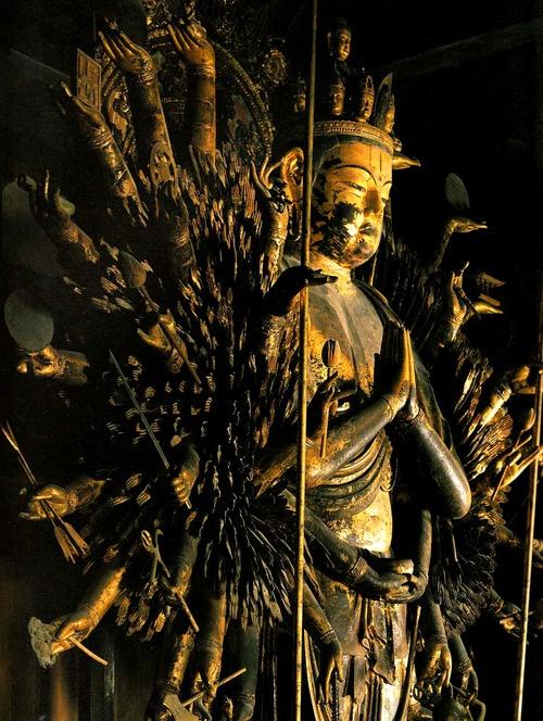 Japanese National Treasure, Senju Kannon 千手観音(唐招提寺)