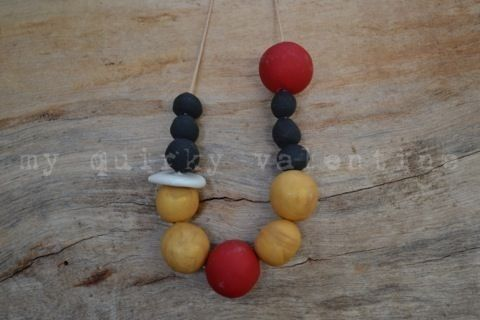 tis the season- handmade polymer clay beads.
