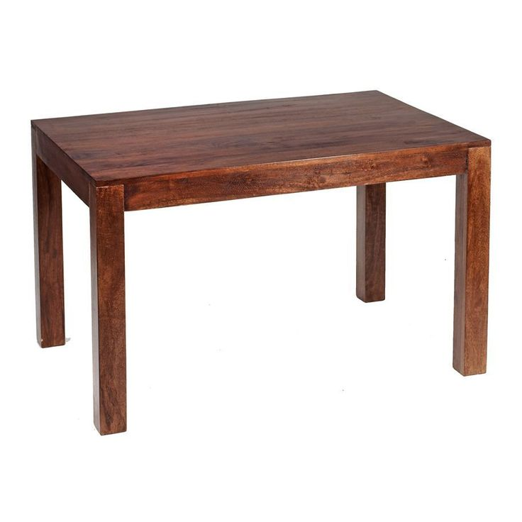 6 Seater Rectangle Dining Table Solid Mango Dark Wood Finish Wooden Furniture
