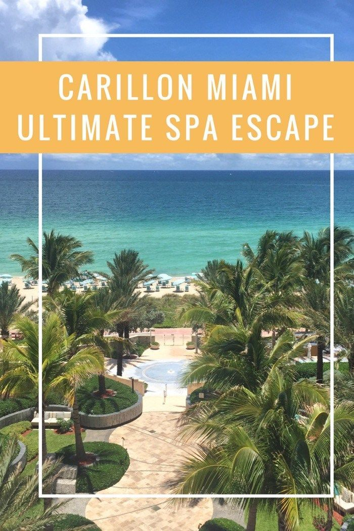 Carillon Miami Spa Escape. One of the best Spas in Miami Beach. Close to south beach and all the action. A luxury waterfront Spa in paradise. Come find out what it is all about.