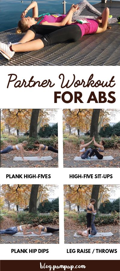 "pumpupapp: "" Try this No-Gym Partner Workout For Your Abs You don't need a gym to get strong, together. Grab your partner, do work, repeat. Learn more """