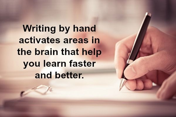 Discover more about the many benefits of writing by hand: http://bit.ly/1idNgCp
