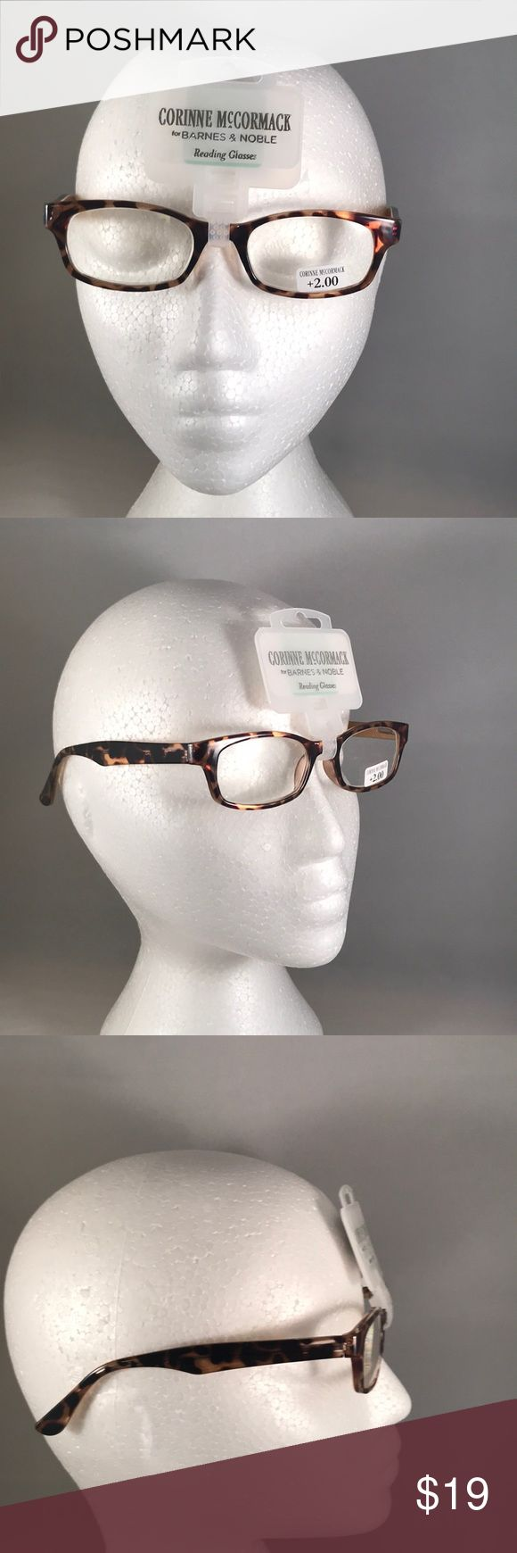 Corinne McCormack Reading Glasses +2.00 – NEW -Cor…