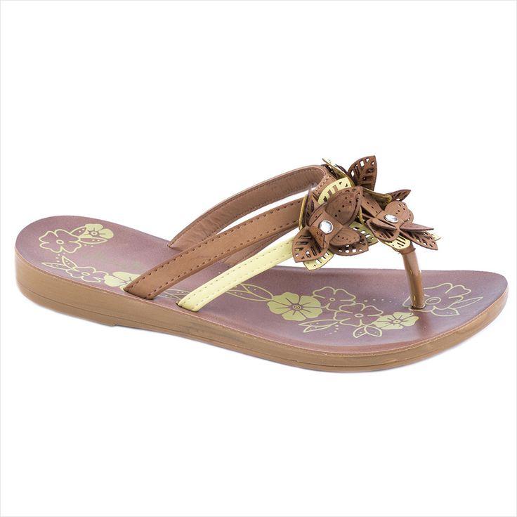 Papuci camel de dama 17-M41166C -  Reducere 58% - Zibra
