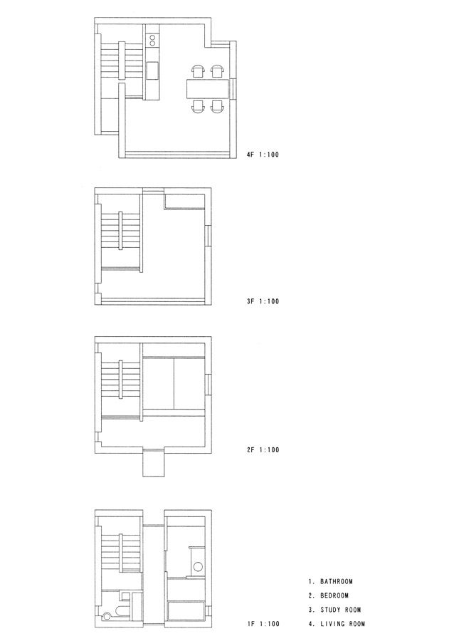 ArchitectureWeek Image - 4 x 4 House by Tadao Ando