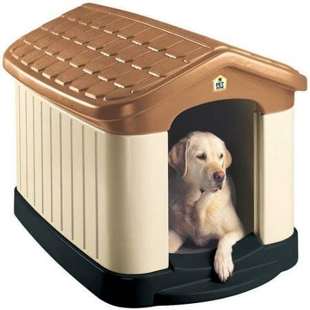 Double-Wall Construction, Durable Plastic Large Dog House, Brown >>> To view further, visit now (This is an amazon affiliate link. I may earn commission from it)