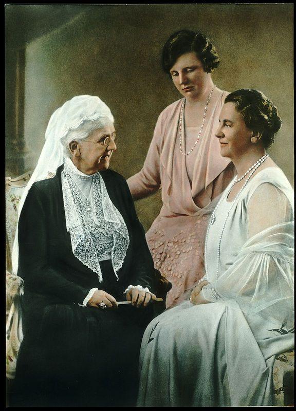 Queen mother Emma, Princess Juliana, Queen Wilhelmina