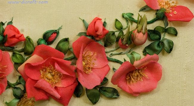 Di van niekerk silk ribbon embroidery pinterest