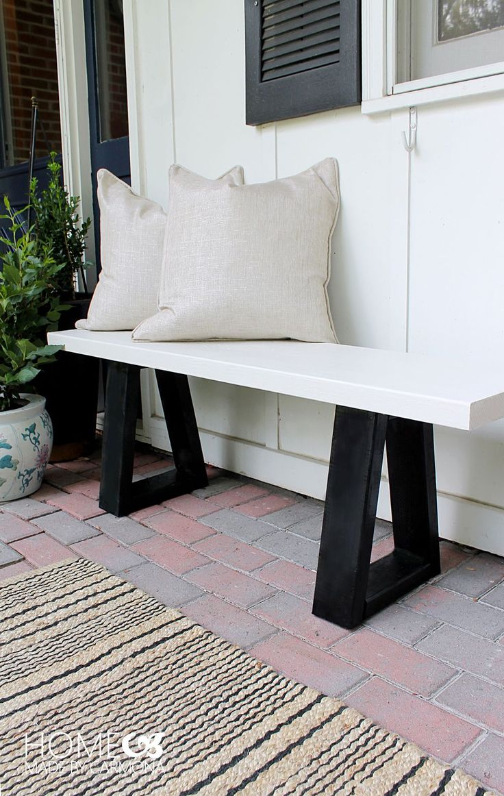 Make your own beautiful bench with this West Elm knock off DIY tutorial.