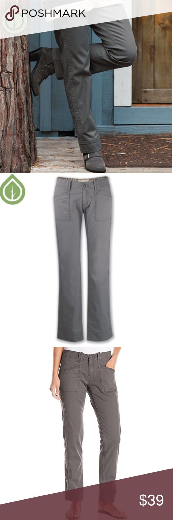 "FLASH SALE Organic Cotton Aventura Clothing Arden Women's Aventura Clothing Arden Pants Organic Cotton Sz 10 in Smoked Pearl MSRP $89.00 Relaxed-fitting silkily peached organic cotton stretchy twill. Contrast seaming & cargo-inspired silhouette, these babies easily go wherever you dare to wander.  Flower print-lined waistband/pockets Woven canvas trim at sides/back pockets  Includes to spare buttons. Drop-in hand pockets NEW W/O Tags Inseam 32""  Leg opening 18"" Waistband 1-3/4""   Belt loops…"