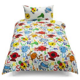 buy mr men characters single duvet set tesco exclusive. Black Bedroom Furniture Sets. Home Design Ideas