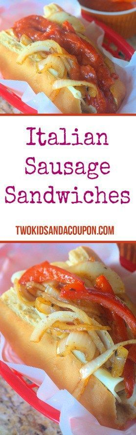 Looking for a great easy meal or tailgating treat? These easy Italian Sausage Sandwiches can't be beat!