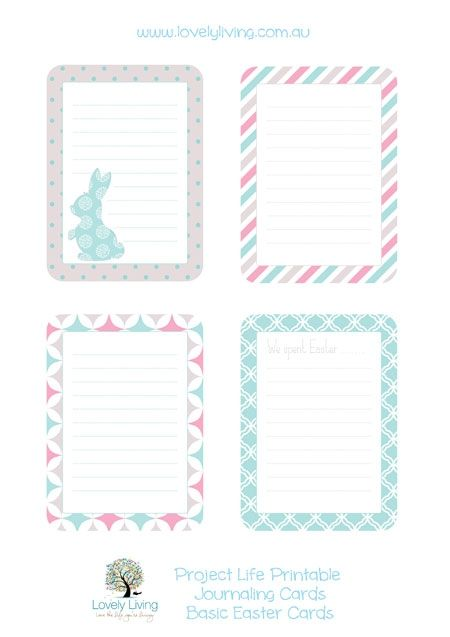 Easter Project Life Printable Journaling Cards - Lovely Living - Love The Life You're Living by chenbeg