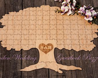 Autumn Fall Spring TREE of Life by WoodenWeddingPuzzles on Etsy