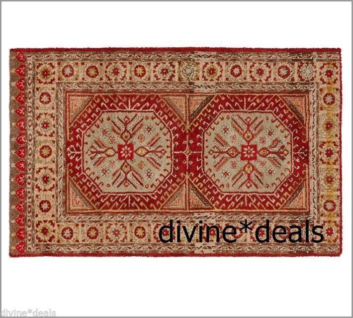 POTTERY BARN ORTA SHAGGY TRIBAL Wool RUG 8 X 10 Close To Perfect On EBay
