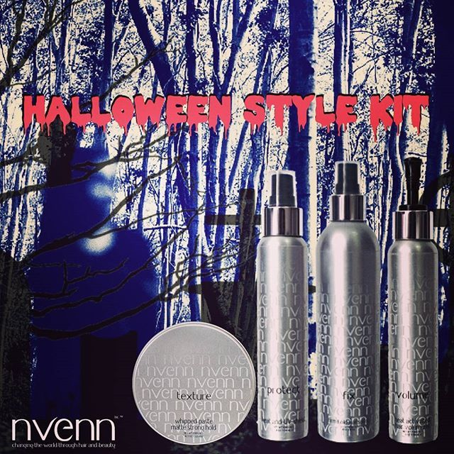 have your absolute best hair with #nvenn's #HALLOWEEN STYLING KIT. from scary franken-bride waves to big sexy blowouts, this kit has everything you need to create the perfect style to last all halloween day and night!    #bbloggers #salonpro #yeghair #yychair #hairpro #