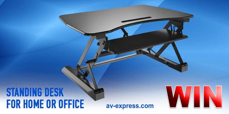 Win sit-stand motorized desk.
