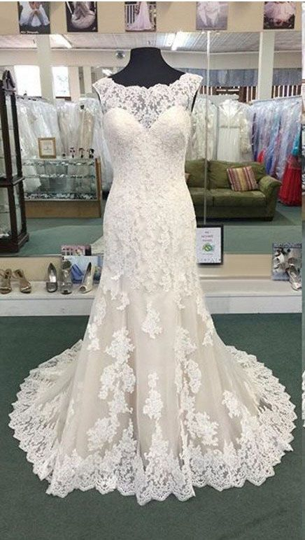 US$113.48-Elegant Sheath Pleated Lace Wedding Dress with Sleeves. https://www.junebridals.com/cap-sleeved-bateau-neckline-sheath-pleated-lace-gown-with-illusion-back-pBU_708746.html.  Free Custom-made & Free Shipping at best wedding dresses, Lace wedding dress, modest wedding dress, strapless wedding dress, backless wedding dress, wedding dress with sleeves, mermaid wedding dress, plus size wedding dress. We have great 2016 fall Wedding Dresses on sale at #JuneBridals.com today!