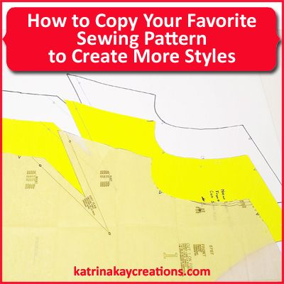 How to Copy Your Favorite Sewing Pattern to Create More Styles