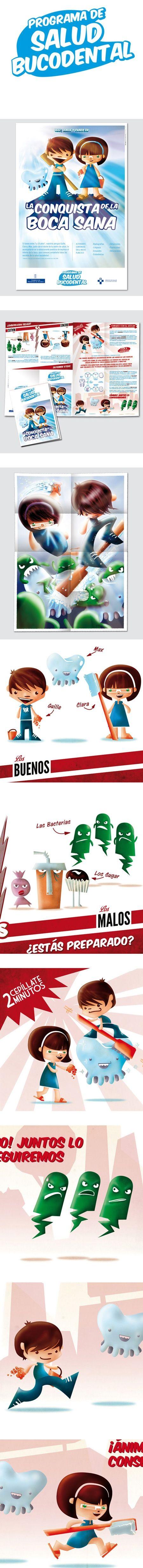 Promoción de la salud bucodental entre los más pequeños #design #salud #dientes #poster