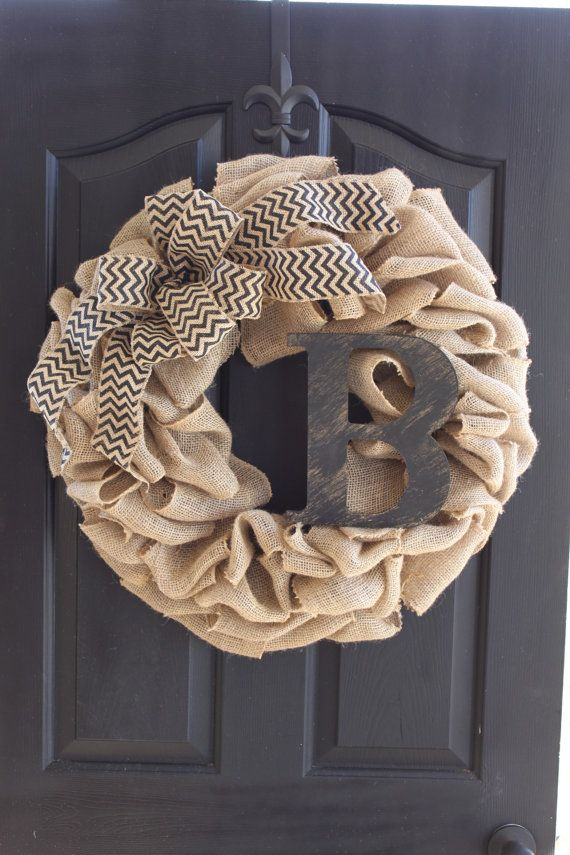 Burlap wreath - Wreath for door - Summer Wreath -Home Decor -Gift idea - Door Wreath We use 60 feet of high quality burlap to create a very thick,