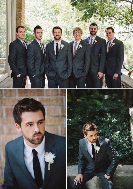 #dark grey wedding  ... Groom's Wedding Guide ... https://itunes.apple.com/us/app/the-gold-wedding-planner/id498112599?ls=1=8 ♥ The Gold Wedding Planner iPhone App ♥