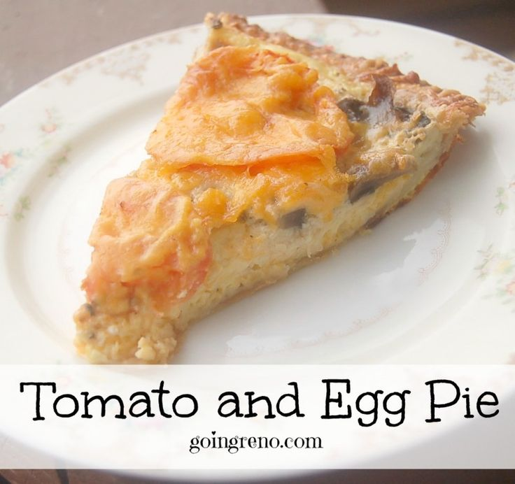 Tomato and Egg Pie is the perfect brunch or dinner for breakfast--or anytime ever food. So delicious. So easy.