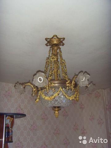 Антикварная люстра к.19 века купить в Санкт-Петербурге на Avito — Объявления на сайте Avito