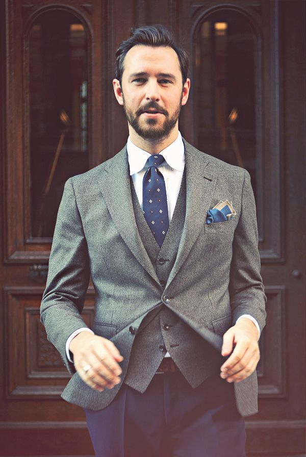 A dapper outfit - mixing jacket and trousers adds another dimension to your suits this year
