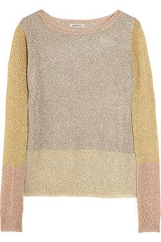 Emma Cook color-block fine-knit sweater