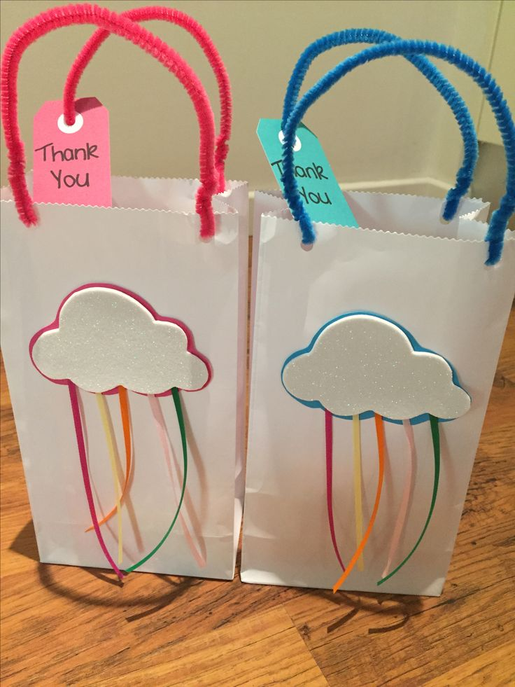 Rainbow Party Bags Made by Mandy Clouten
