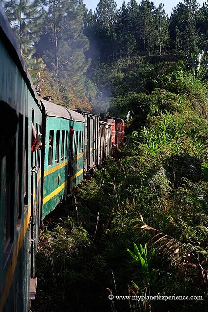 The Fianarantsoa-Côte Est - usually called FCE - railway. A colonial-built railway in southeast Madagascar, connecting the high plateau city of Fianarantsoa to the port-city of Manakara.