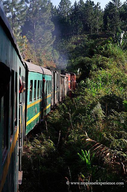 The Fianarantsoa-Côte Est - usually called FCE - railway. A colonial-built railway in southeast Madagascar, connecting the high plateau city of Fianarantsoa to the port-city of Manakara.