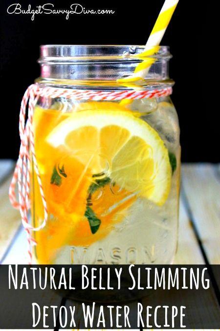 Homemade Natural Belly Slimming Detox Water Recipe