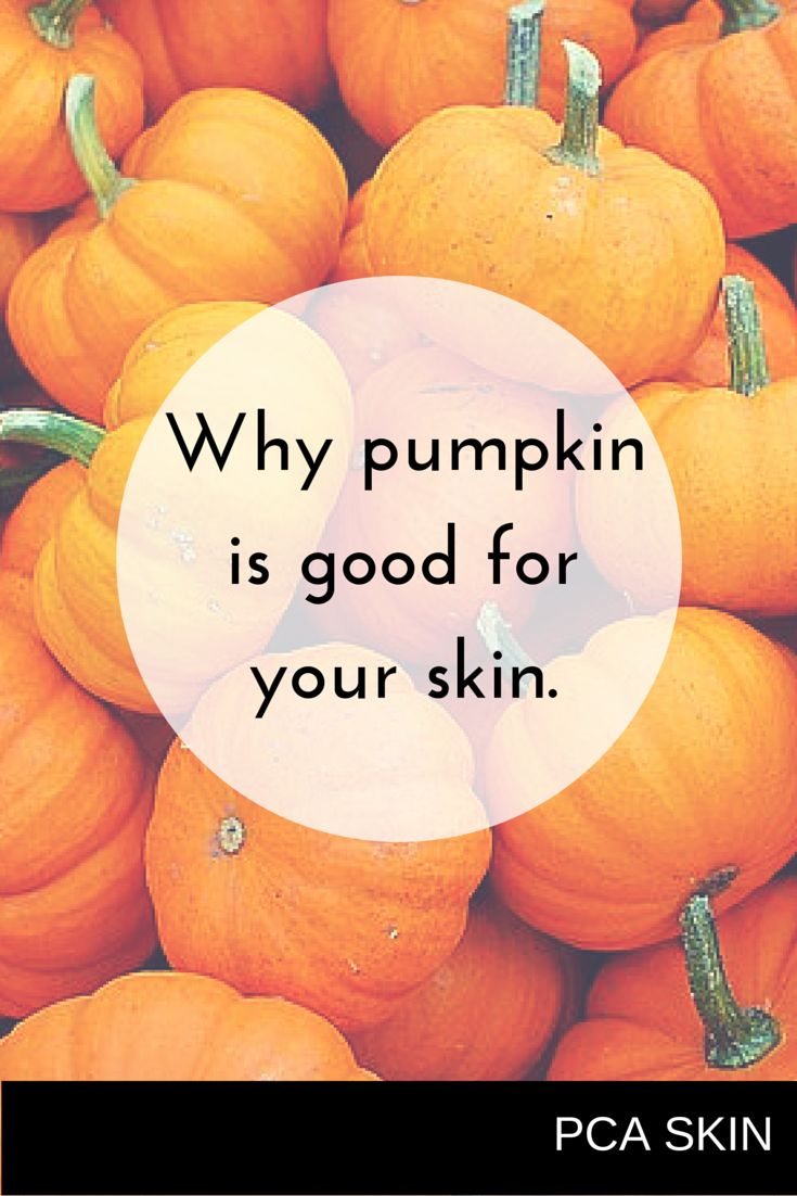 Pumpkin: it's not just for pie. #pcaskin #healthyskin
