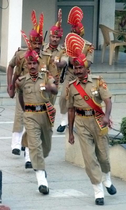 Waga border post guards-India