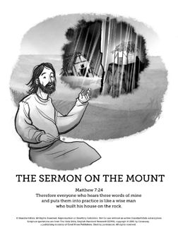 Sermon On The Mount Beatitudes Sunday School Coloring Pages As Your Kids Color