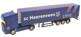 SC HEERENVEEN: Vrachtwagen - Truck - Blauw - trekker met oplegger