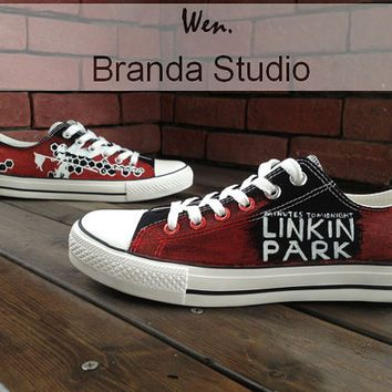 733d164f197a Christmas Gifts-Linkin Park Low Top Hand Painted Shoes 45.99Usd ...