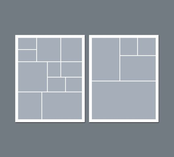 8x10 Photo Collage Template Collage template - 8 x 10