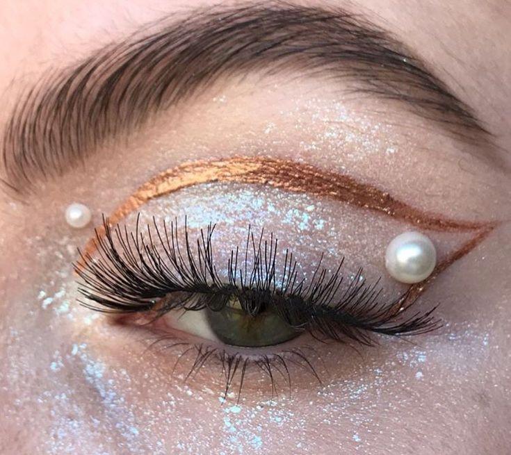 Pearl eye makeup #eyemakeup