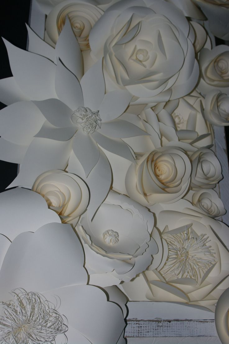 Paper flower backdrop, absolutely perfect for a wedding! By MiaBella Paper Productions.